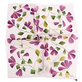 Sybilla 茉莉花花朵圖案純綿帕領巾(紫色)989164-90