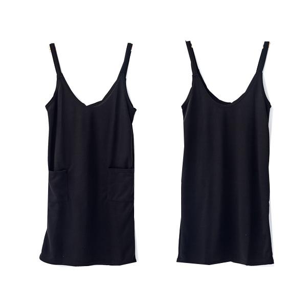 寬鬆素面細肩大口袋吊帶裙 孕婦洋裝 兩色 台灣製【CPI1815】孕味十足 孕婦裝