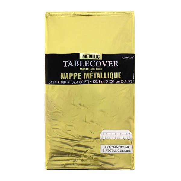 閃亮塑膠桌巾-璀璨金