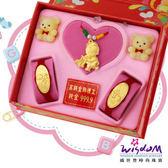 999.9黃金彌月音樂禮盒 快樂寶貝三件組2分-GP00021-25-FEX