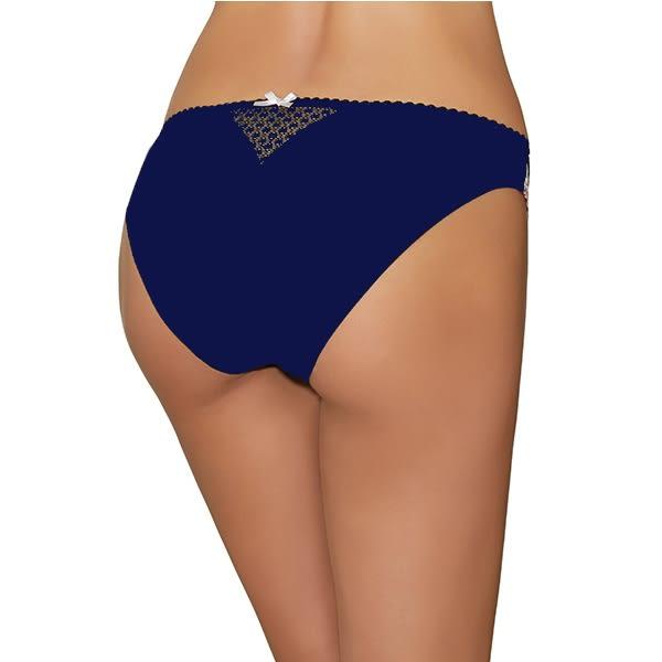 Aubade-激情克蕾兒S-XL蕾絲三角褲(深藍)CB