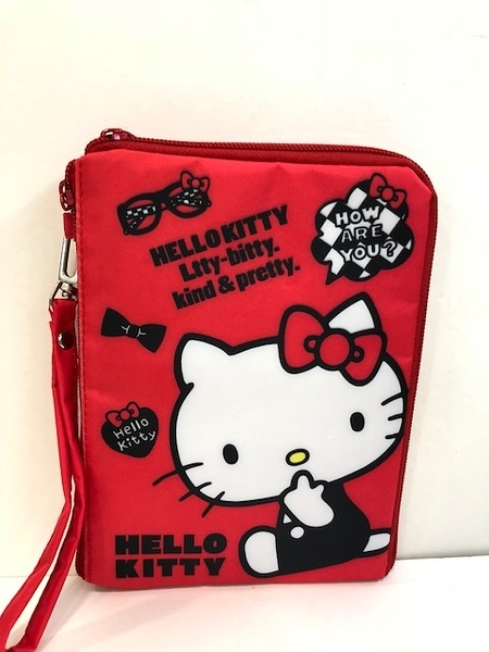 【震撼精品百貨】Hello Kitty 凱蒂貓~KITTY多功能證件套-紅座