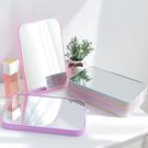 簡約純色摺疊鏡 創意 高清 單面 化妝鏡子 台式 多彩 梳妝鏡 便攜 方形 公主鏡【P600】MY COLOR