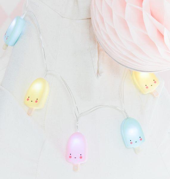 【荷蘭 A little lovely company】療癒LED掛燈 - 冰淇淋