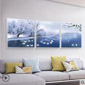 客廳沙發後背景牆裝飾畫現代簡約大氣溫馨三聯畫時尚壁畫掛畫油畫