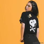 CB x Snoopy 交叉骨短T