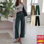 MIUSTAR 雙釦前打褶挺版西裝褲(共4色,S-XL)【NG001551】預購