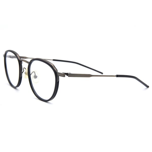 999.9 日本神級眼鏡 M43 (黑-鐵灰)  鈦 圓框 近視眼鏡 久必大眼鏡