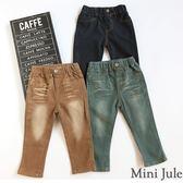 Mini Jule男童 長褲  字母裝飾口袋造型/刷白造型後口袋剪接設計彈性鬆緊牛仔褲(共3款)