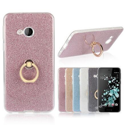 【SZ14】HTC U play手機殼 閃粉指環TPU HTC U ultra手機殼 全包 軟殼