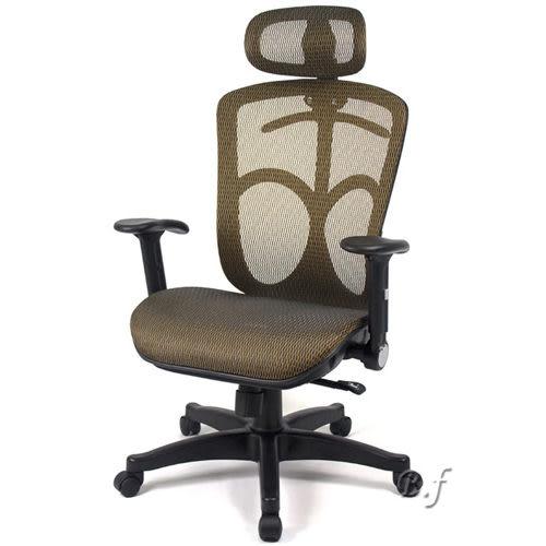 【aaronation】愛倫國度 - 第二代頭枕式電腦椅(金)