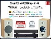 英國 MYRYAD Z142 綜合擴大機+6000N PLAY無線串流播放器+法國製 Focal Chora 806 喇叭