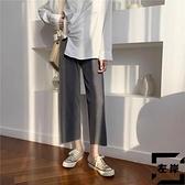 寬褲女高腰垂感夏季薄款寬鬆直筒大碼休閒九分褲【左岸男裝】