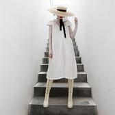 無袖洋裝-立體玫瑰花V領大裙擺女連身裙2色73yh45【巴黎精品】