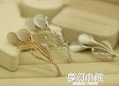 Z3貓眼韓國高檔水晶胸針女優雅領扣飾品衣領夾胸花別針絲巾扣 夢幻小鎮