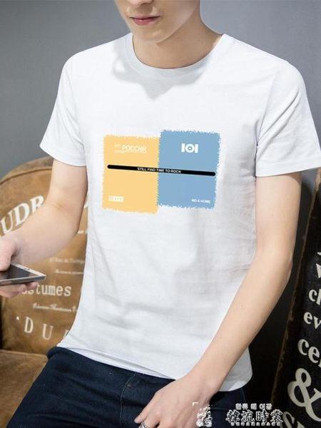 2019男士短袖T恤潮流新款夏裝體桖純棉潮牌夏季白色寬鬆情侶衣服