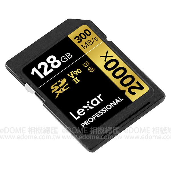 LEXAR 雷克沙 SD SDXC 128GB 300MB/S V90 U3 C10 2000x  (24期0利率 免運 本鄉公司貨終身保固) 128G LSD128CB2000R