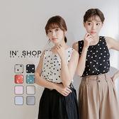 IN' SHOP夏日俏皮圓領前釦背心-共8色【KT220896】