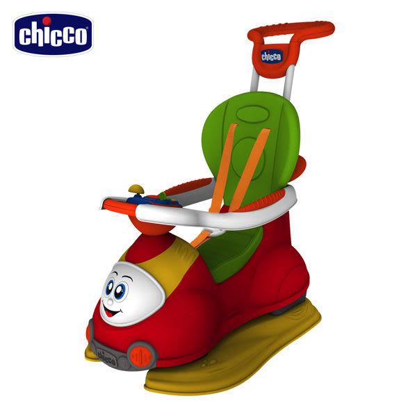 【愛吾兒】Chicco 新四合一多功能訓練車/學步車/助步車(西瓜紅) 熱銷商品
