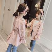 童裝女童秋裝風衣2018新款韓版中長款洋氣兒童中大童外套公主潮衣 初見居家