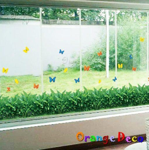 壁貼【橘果設計】草地 DIY組合壁貼/牆貼/壁紙/客廳臥室浴室幼稚園室內設計裝潢