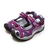 LIKA夢 GOODYEAR 固特異 排水透氣輕便水陸護趾涼鞋 紫灰桃 82707 女