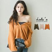 LULUS-Y捲邊圓領針織外套-3色  現+預【03030888】