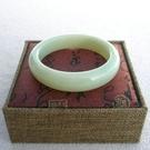 【歡喜心珠寶】【天然新疆和闐羊脂白玉手鐲】18.7圍.玉鐲.手環「附保証書」和「寶石鑑定書」