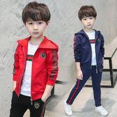 童裝男童秋季套裝2018新款兒童運動三件套男孩衣服春秋裝韓版潮衣
