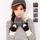 【MIT台灣製】雙層內裡羽毛紗針織手套保暖手套─提花愛心款