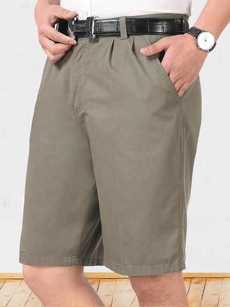 西裝褲夏季爸爸西裝短褲中年人男士寬鬆外穿五分褲父親節中老年純棉休閒 衣間迷你屋