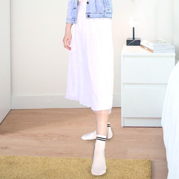 (超值8雙組)(經典條紋M22~24cm)MIT抗菌消臭造型造型短襪/糖果襪/少女襪/文青襪/學生襪-MORINO摩力諾