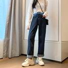 牛仔褲寬管褲小腳褲百搭牛仔褲牛仔裙中大尺碼M-4XL11385高腰寬松顯瘦直筒褲1F051.依品國際