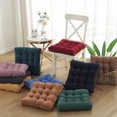坐墊方形辦公室久坐座墊毛絨加厚椅子凳子墊子【聚可愛】