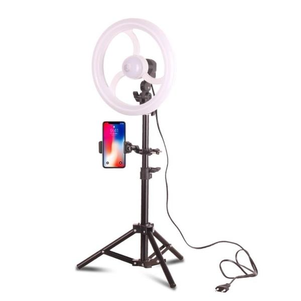補光燈補光燈主播美顏嫩膚自拍打光燈小型手機拍照燈抖音拍照神器 LX 貝芙莉