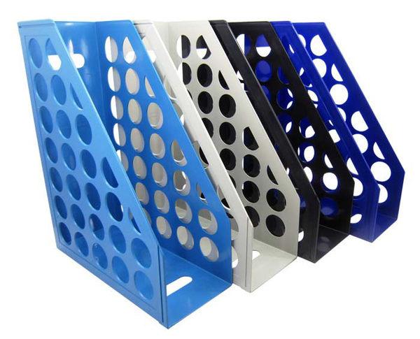 ※亮點OA文具館※  台灣聯合 WIP MF-6800/WIP AMF-6800 開放式圓孔雜誌箱/雜誌盒/書架-深藍
