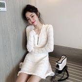 VK旗艦店 韓系小香風顯瘦氣質時尚長袖洋裝