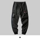 【男人幫大尺碼】K1627-時尚潮流嘻哈工作長褲-黑色