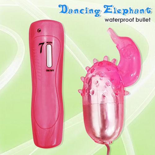按摩棒 情趣用品 Jumping Dolphin 大象造型G點七段變頻防水震蛋 +潤滑液1包