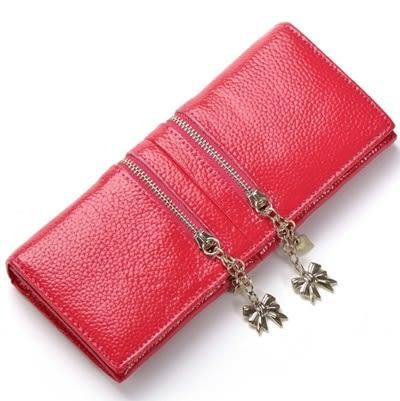 皮夾(長夾)-蝴蝶結甜美拉鍊裝飾時尚女零錢包6色73eb47【時尚巴黎】