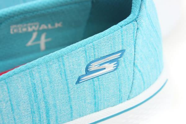 SKECHERS GO WALK 4 休閒布鞋 懶人鞋 休閒 舒適 好穿脫 淺藍色 水藍色 女鞋 14149TURQ no593
