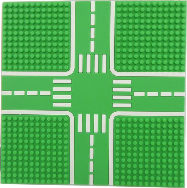 【Tico 微型積木】T-9907-B 城市道路底板 (公園綠)