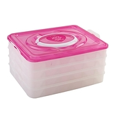 速凍餃子盒廚房冰箱收納盒不黏冷凍保鮮盒帶蓋分格水餃盒餛飩托盤   年終大促