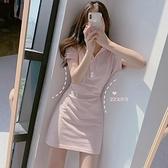 洋裝 法式桔梗裙初戀裙子女裝夏季新款森系復古仙女超仙甜美收腰洋裝