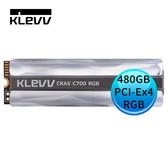 KLEVV 科賦 CRAS C700 RGB 480GB NVMe PCIe Gen3x4 M.2 2280 RGB SSD 固態硬碟 K480GM2SP0-C7R