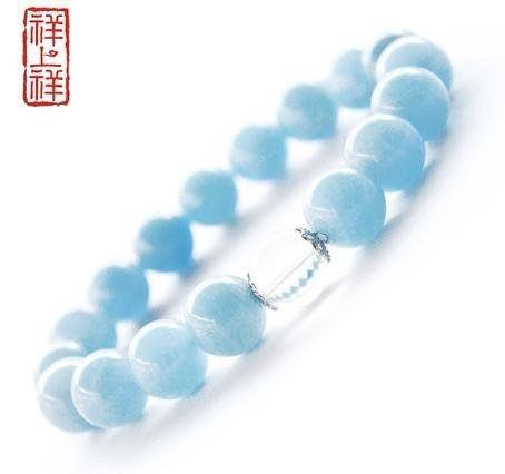 水晶海藍寶手鏈愛情之石
