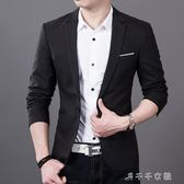 男士休閒西服薄款商務上衣英倫潮流韓版修身小西裝男外套免燙 消費滿一千現折一百
