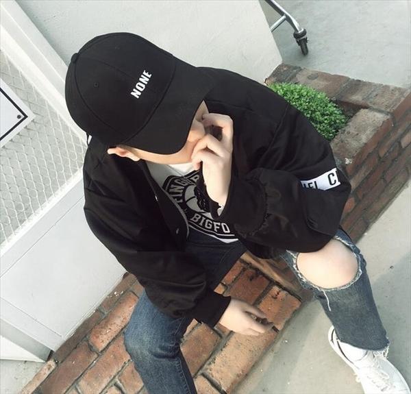 找到自己品牌 日系 時尚潮流 街頭 嘻哈 男 字母刺繡NONE 扁帽 鴨舌帽 棒球帽