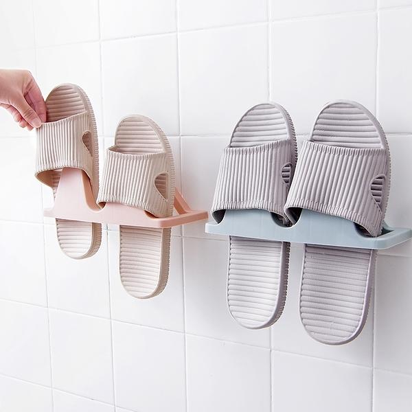 泰博思 免釘 免打孔掛壁式鞋架 牆壁拖鞋架 客廳浴室 免釘 牆面 鞋架 【F0385】