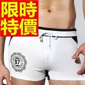 四角泳褲-溫泉戲水高檔獨特男平口褲56d88[時尚巴黎]